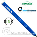 Lamkin Sink Squared 13 Inch Midsize Pistol Putter Grip - Bright Blue / White / Black