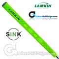 Lamkin Sink Squared 13 Inch Midsize Pistol Putter Grip - Neon Green / Grey / Silver