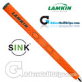 Lamkin Sink Squared 13 Inch Midsize Pistol Putter Grip - Neon Orange / Grey / Silver