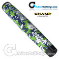 Champ C1 Large Camo Rain Forest Giant Putter Grip - White / Navy / Green / Grey