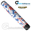 Champ C1 Large Camo Old Glory Giant Putter Grip - White / Red / Blue / Grey