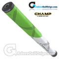 Champ C1 Medium Jumbo Putter Grip - Neon Green / White
