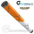 Champ C1 Medium Jumbo Putter Grip - Neon Orange / White