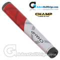 Champ C1 Large Giant Putter Grip - Hot Red / White
