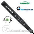 Lamkin Sink Rounded 11 Inch Jumbo Pistol Putter Grip - Black / White
