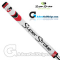 SuperStroke Pistol GTR Tour Legacy Series Putter Grip - White / Red / Silver