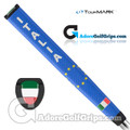TourMARK Italy Jumbo Pistol Putter Grip - Blue / White