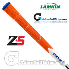 Lamkin Z5 Multicompound Cord Midsize Grips - Orange / White / Blue