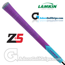 Lamkin Z5 Multicompound Cord Grips - Neon Violet / Turquoise / Grey