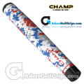 Champ C1 Medium Camo Old Glory Jumbo Putter Grip - White / Red / Blue / Grey