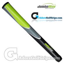 "JumboMax Tour Series Jumbo (JUNIOR +1/8"") Grips - Black / Grey / Lime Green"