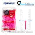 Masters Golf Plastic Tees - Long - 2 1/8 Inch (54mm) - Pink (40 Pack)