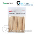 The GolfWorks Epoxy Mixing Sticks - (100 Pack)