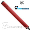 The Grip Master Signature 2.0 / FL27 Cabretta Leather Sewn Midsize Featherlite Putter Grip - Red
