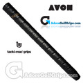 Avon Tacki-Mac Unified Perforated Wrap Non-Tapered Midsize Grips - Black