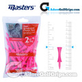 Masters Golf Graduated Plastic Tees - 2 1/4 Inch (57mm) - Pink (25 Pack)