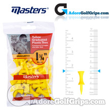 Masters Golf Graduated Plastic Tees - 1 3/4 Inch (45mm) - Yellow (30 Pack)