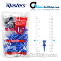 Masters Golf Graduated Plastic Tees - 1 1/2 Inch (38mm) - Blue (30 Pack)