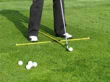 EyeLine Golf Practice T Alignment Rod System Swing Aid - By Michael Breed