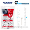 Masters Golf White Wooden Tees - 2 1/8 Inch (54mm) - White (25 Pack)