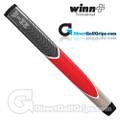 Winn Excel Medallist Jumbo Pistol Lite Putter Grip - Grey / Red / Stone