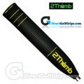 2 Thumb Pro Light Putter Grip - Black / Yellow