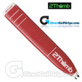 2 Thumb Pro Light Putter Grip - Red / White