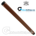 The Grip Master Montana Cow Leather Stitchback Pistol Putter Grip - Brown