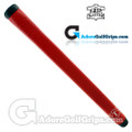 The Grip Master Montana Cow Leather Stitchback Pistol Putter Grip - Red