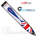 2 Thumb Big Daddy Light Union Jack Putter Grip - White / Blue / Red