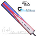 Iguana Golf Wrap-Flag Giant Super Lite Putter Grip - Red / White / Blue