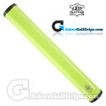 The Grip Master FL 25 Colorado Leather Sewn Jumbo Feather Lite Putter Grip - Lime Green / Black Underlisting