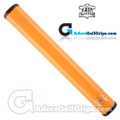 The Grip Master FL 25 Colorado Leather Sewn Jumbo Feather Lite Putter Grip - Orange / Black Underlisting