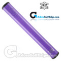 The Grip Master FL 25 Colorado Leather Sewn Jumbo Feather Lite Putter Grip - Purple / Black Underlisting