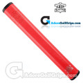 The Grip Master FL 25 Colorado Leather Sewn Jumbo Feather Lite Putter Grip - Red / Black Underlisting