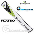 SuperStroke Flatso 1.7 Putter Grip - White / Black / Lime Green