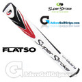 SuperStroke Flatso Mid 1.4 Putter Grip - White / Black / Red