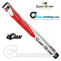 SuperStroke The Claw Midsize Pistol Putter Grip - White / Red