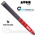 Avon Tacki-Mac Dual Moulded Jumbo Grips - Black / Red