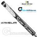 SuperStroke Ultra Slim 1.0 Midnight Series Putter Grip - White / Black / Silver