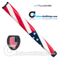 TourMARK USA Flag Jumbo Pistol Putter Grip - Red / White / Blue