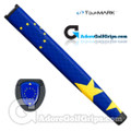 TourMARK European Jumbo Pistol Putter Grip - Blue / Yellow
