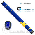 TourMARK European Flag Midsize Pistol Putter Grip - Blue / Yellow
