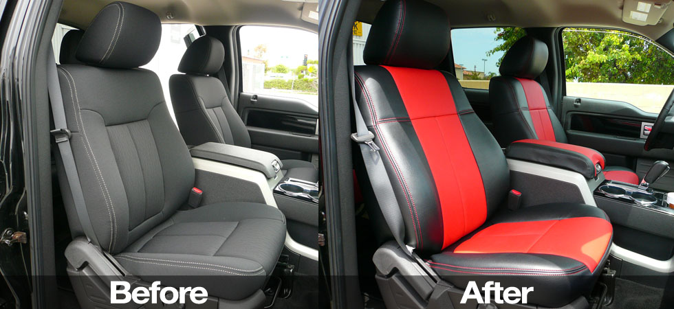 Before and After Clazzio Seat Covers