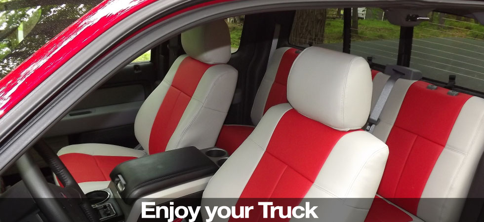 Enjoy your truck even more with a set of custom Clazzio leather seat covers!