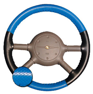 Eurotone Perforated Two-Tone Steering Wheel Cover
