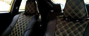 Clazzio Quilted Seat Covers - Toyota Highlander '04-'07 (3 Row Model)