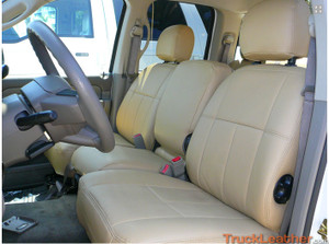 Dodge Ram Front Seat Covers in Beige Leather