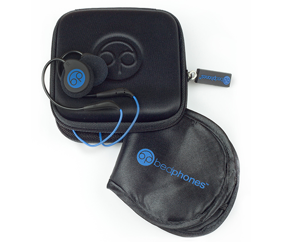 Bedphones with case and eye mask