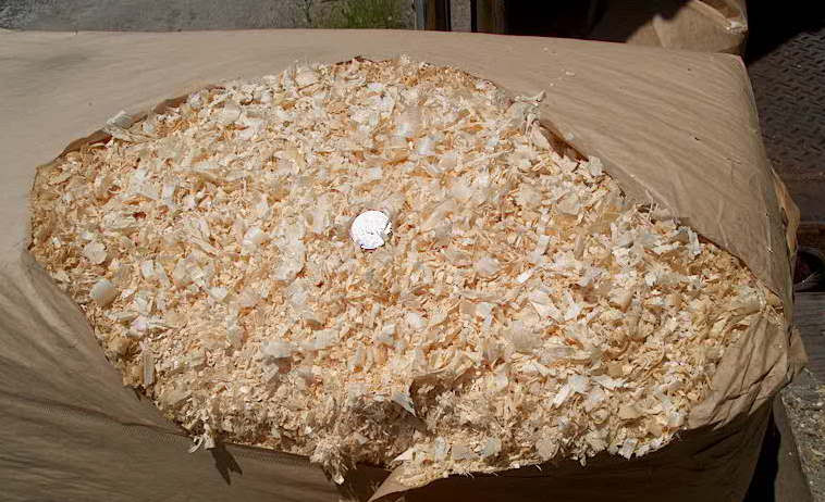 Bagged Pine Sawdust ~ Paper bagged wood shavings delivered in massachusetts